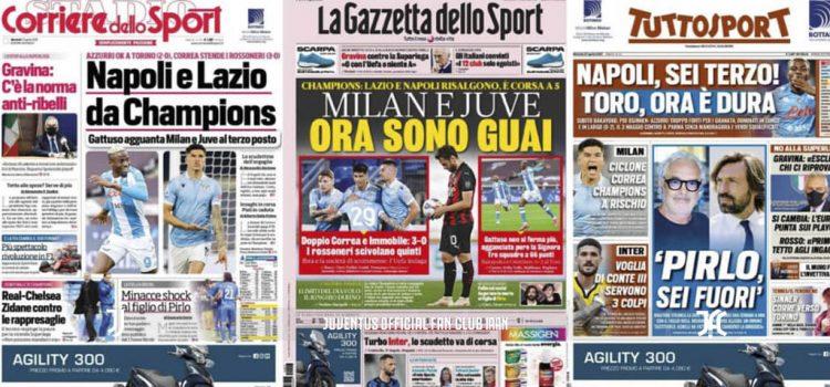روزنامه های تاریخ 27 آپریل - 7 اردیبهشت