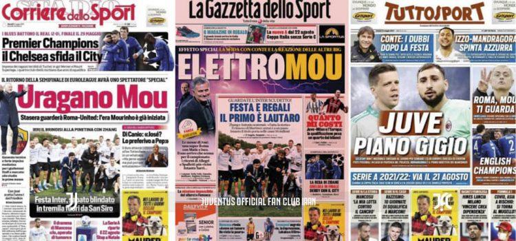 روزنامه های تاریخ 6 می - 16 اردیبهشت