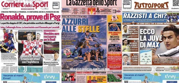 روزنامه های تاریخ 23 ژوئن - 2 تیر