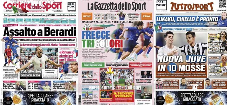 روزنامه های تاریخ 30 ژوئن - 9 تیر