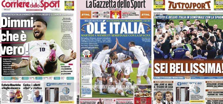 روزنامه های تاریخ 3 ژوئیه – ۱2 تیر