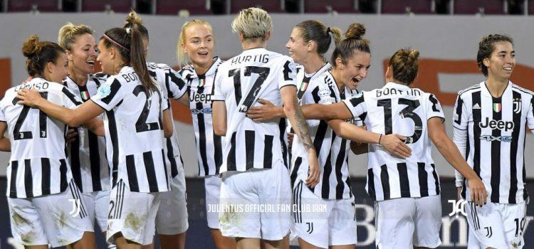 درخشش بانوان یوونتوس در اولین شب UWCL - مرحله گروهی لیگ قهرمانان زنان اروپا